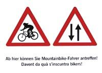 attention mountainbiker